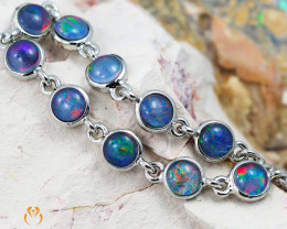 Modern Design 10pc  Opal Triplet Bracelet AM 867