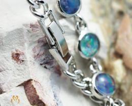 Modern Design 10pc  Opal Triplet Bracelet AM 868