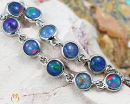 Modern Design 10pc  Opal Triplet Bracelet AM 870