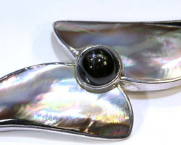 80 CTS Oyster Shell Silver Pendant SG-1321