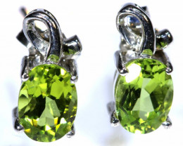 8.20 CTS PERIDOT EARRINGS SG-1326