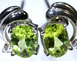 7.8 CTS PERIDOT EARRINGS SG-1328
