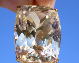 Yellow Kunzite 41.00ct,Solid 18K Yellow Gold Pendant,Certified and Appraise