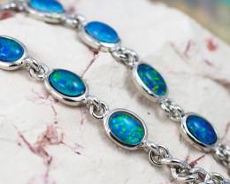 Modern Design 10pc  Oval  Opal Triplet Bracelet OPJ 1058