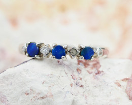 Modern Design Opal Ring Size 6.5  OPJ 1072