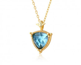 Cute Topaz Necklace - Gold Plated
