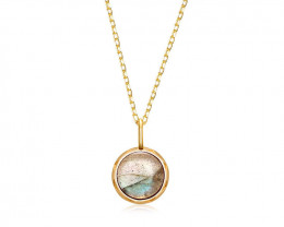 Cute Labradorite Necklace - Gold Plated