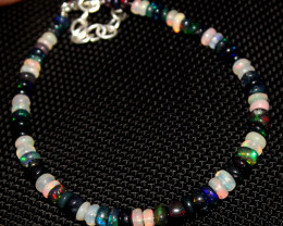 16 Crt Natural Welo Opal & Smoked Opal Beads Bracelet 313