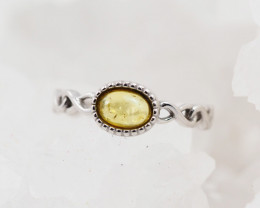 Baltic Amber Sale,Silver Ring  , direct from Poland  AM 874