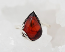 Baltic Amber Sale,Silver Ring  , direct from Poland  AM 875