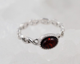 Baltic Amber Sale,Silver Ring  , direct from Poland  AM 876