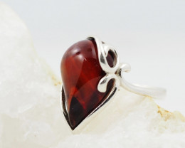 Baltic Amber Sale,Silver Ring  , direct from Poland  AM 878