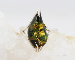 Baltic Amber Sale,Silver Ring  , direct from Poland  AM 881