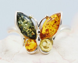 Baltic Amber Sale,Silver Ring  , direct from Poland  AM 882