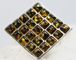 Baltic Amber Sale,Silver Ring  , direct from Poland  AM 883