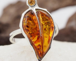 Baltic Amber Sale,Silver Ring  , direct from Poland  AM 884