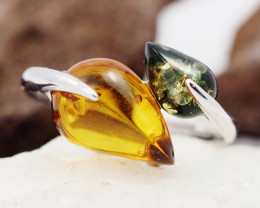 Baltic Amber Sale,Silver Ring  , direct from Poland  AM 888
