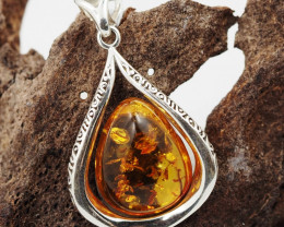 Baltic Amber Sale, Silver Pendant  , direct from Poland  AM 891