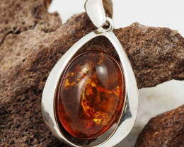Baltic Amber Sale, Silver Pendant  , direct from Poland  AM 892