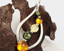 Baltic Amber Sale, Silver Pendant  , direct from Poland  AM 1823