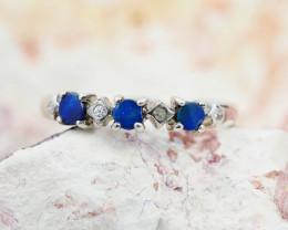 Cute Modern Design Opal Ring Size 6.5 OPJ 1083