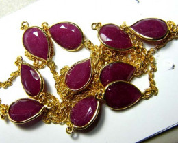 82 CTS RUBY NECKLACE  10 STONES SG-2068