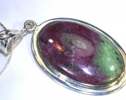 56 CTS RUBY ZOISITE PENDANT SG-2087