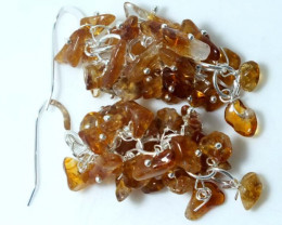 50 CTS CITRINE EARRINGS GRAPE DESIGN SG-2051