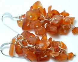 52 CTS CITRINE EARRINGS GRAPE DESIGN SG-2056