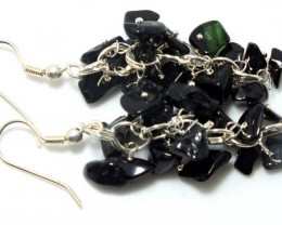 45 CTS BLACK TOURMALINE EARRINGS GRAPE DESIGN SG-2059