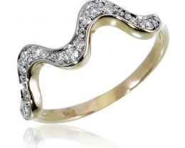 Low Wholesale Price 14 k Solid White Gold Genuine Diamond Ring