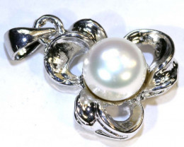 14 CTS PEARL PENDANT -SILVER  SG-2216
