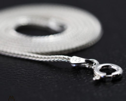 18 Inch, 45 cm 1.1 x 1.0  mm Long  Snake  Silver chain . AM 941