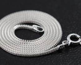 16Inch, 40 cm 1.0 x 1.0  mm Long  Snake  Silver chain . AM 957