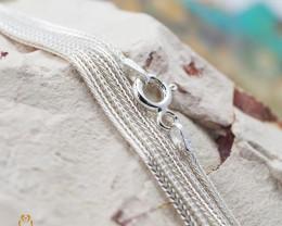 16Inch, 40 cm 1.0 x 1.0  mm Long  Snake  Silver chain . AM 959
