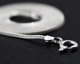 16Inch, 40 cm 1.0 x 1.0  mm Long  Snake  Silver chain . AM 960