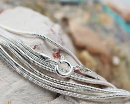 20 Inch, 50 cm 1.0 x 0.8   mm Long  Snake  Silver chain . AM 964