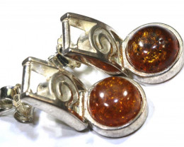 24.60 CTS AMBER SILVER EARRING SG-2250
