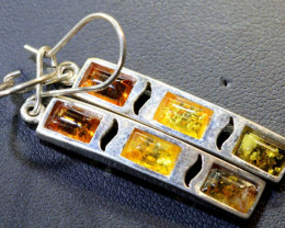 22.33 CTS AMBER SILVER EARRING SG-2253