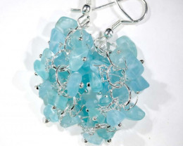49.95CTS APATITE EARRINGS NEON BLUE UNTREATED SG-2269