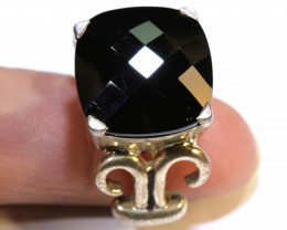 69 CTS ONYX SILVER RING  SG-2104