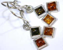 12.26CTS AMBER SILVER EARRINGS  SG-2108