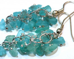 49.95CTS APATITE EARRINGS NEON BLUE UNTREATED SG-2296
