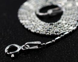 16 Inch, 40 cm 0.9 x0.9    mm Long Ball & Bead  Silver chain . AM 979