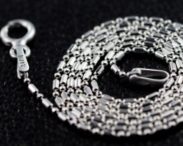 16 Inch, 40 cm 0.9 x0.9    mm Long Ball & Bead  Silver chain . AM 984