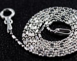 18 Inch, 45 cm 0.9 x0.9    mm Long Ball & Bead  Silver chain . AM 988