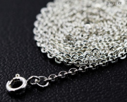 30 Inch, 75 cm 1.2 x 1.2    mm Long Curb  Silver chain . AM 1000