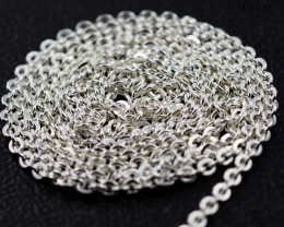 30Inch, 75 cm 1.42 x 1.2    mm Long Curb  Silver chain . AM 1001