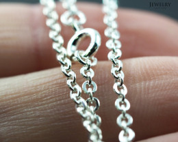 30 Inch, 75 cm 1.2 x 1.2   mm Long Curb  Silver chain . AM 1004