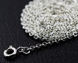 18 Inch, 45 cm 1.4 x 2.5    mm Long Curb  Silver chain . AM 1006